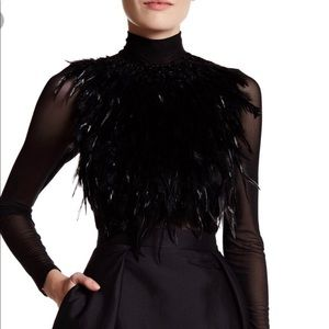 Gracia Feathered Top